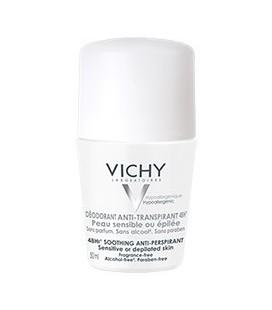 VICHY Desodorante Anti-Transpirante 48H. Roll-On Piel Sensible